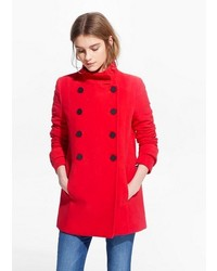 Mango Double Breasted Cotton Coat