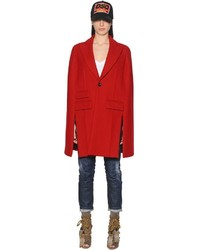 Dsquared2 Felted Wool Cape Coat