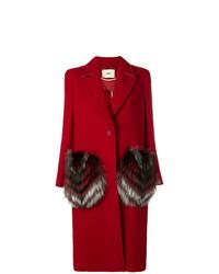 Fendi Fur Pocket Single Breasted Coat