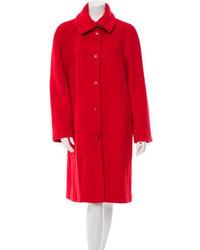 Hermes Herms Wool Long Sleeve Coat