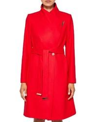 Ted Baker Kikiie Wool Blend Long Wrap Coat