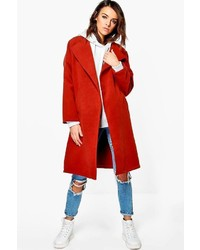 Boohoo Milly Collarless Wool Look Coat