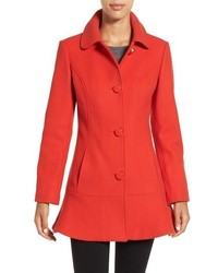 Kate Spade New York Twill Ruffle Hem Coat