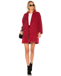 On Parle De Vous Fibre Coat In Red Size 0