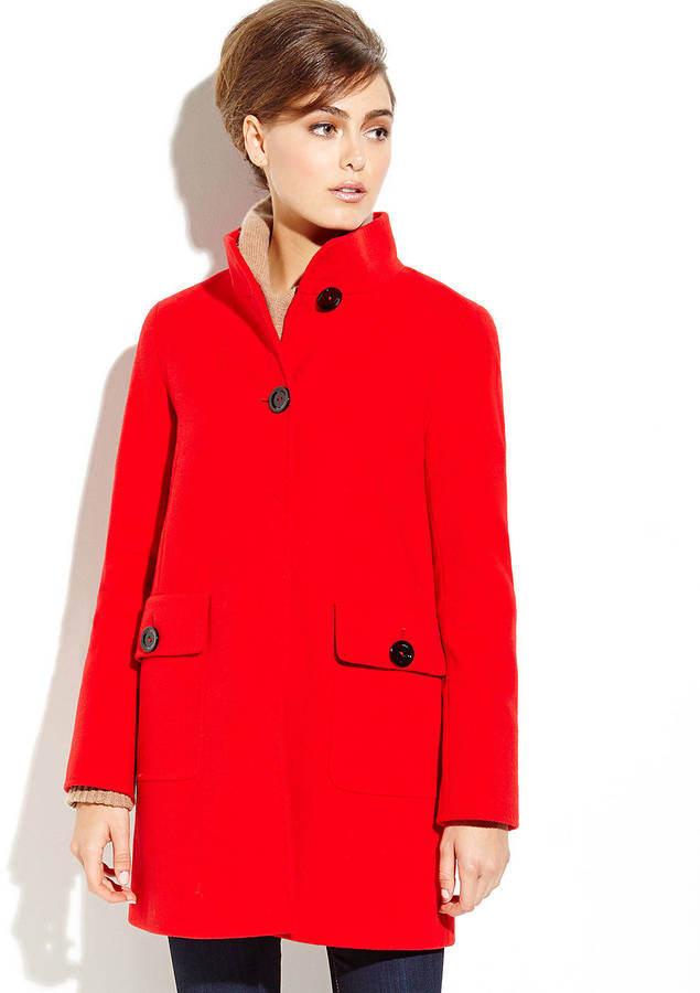 Cinzia Rocca Red A Line Coat | Where to buy & how to wear