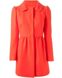 RED Valentino Peter Pan Collar Flared Coat