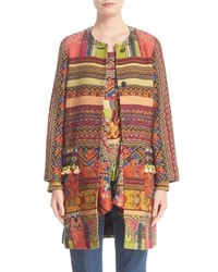 Etro Ribbon Print Cotton Blend Topper