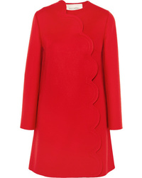 Valentino Scalloped Wool And Cashmere Blend Coat