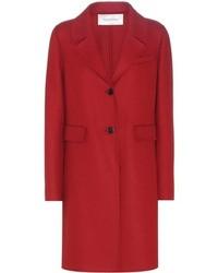 Valentino Virgin Wool And Angora Blend Coat