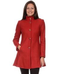 Fleet Street Wool Blend Peplum Coat