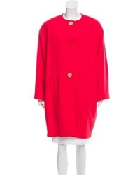Lanvin Wool Collarless Coat