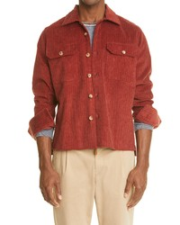 Eleventy Corduroy Shirt Jacket