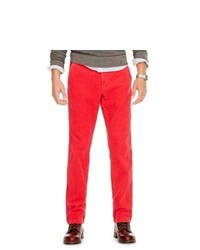 Fossil Marcus Flat Front Corduroy Pant Mc39626003234 Color Red