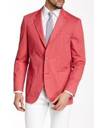 Tailorbyrd Red Two Button Notch Lapel Sports Jacket