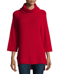 Cashmere collection cowl neck 34 sleeve cashmere tunic medium 355027