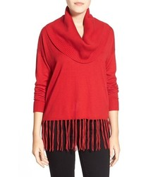 Michl michl kors fringe hem cowl neck sweater medium 355008