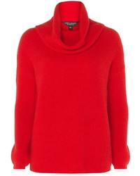 Dorothy Perkins Red Cowl Neck Jumper