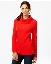 Tommy Hilfiger Ribbed Cowl Neck Sweater