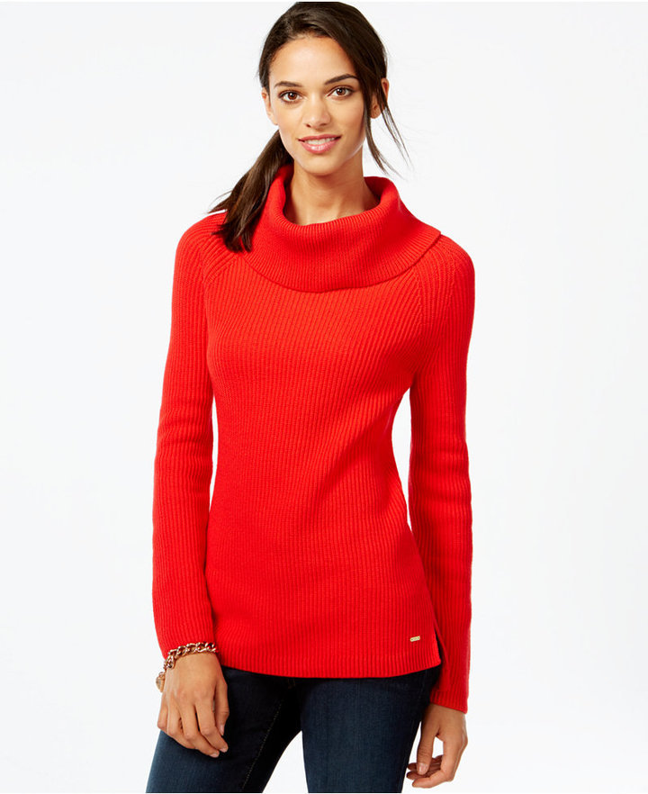 Tommy Hilfiger Ribbed Cowl Neck Sweater | Where to buy & how to wear
