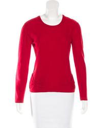 Sonia Rykiel Bow Embellished Rib Knit Sweater