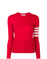 Thom Browne Classic Crewneck Pullover Cashmere With 4 Bar Sleeve Stripe