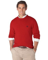 Chaps Classic Fit Hazel Grove Solid Crewneck Sweater