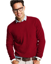 Men's Red Crew-neck Sweaters from Macy's | Men's Fashion