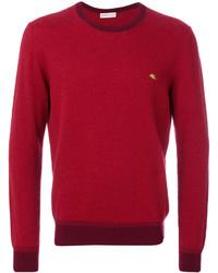 Contrasting crew neck sweater medium 4423798