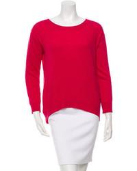 Sandro Crew Neck Rib Knit Sweater