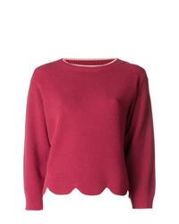 Elisabetta Franchi Cropped Scalloped Hem Sweater
