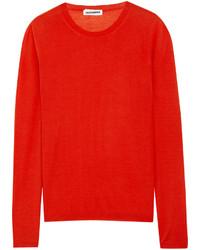 Jil Sander Fine Knit Cashmere And Silk Sweater