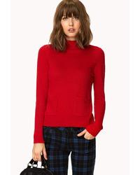 Forever 21 High Neck Pocket Sweater