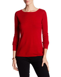 In Cashmere Cashmere Open Stitch Pullover Sweater