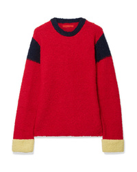 Eckhaus Latta Kermit Color Block Knitted Sweater