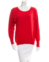 Chanel Knit Scoop Neck Sweater