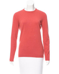 Brunello Cucinelli Leather Accented Cashmere Sweater