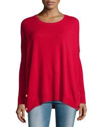Joan Vass Long Sleeve Wool Cashmere Tunic Petite