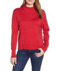 Velvet by Graham & Spencer Mock Neck Cotton Cashmere Sweater