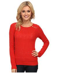 Lucky Brand Modern Pointelle Pullover