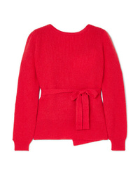 ALEXACHUNG Open Back Wrap Sweater