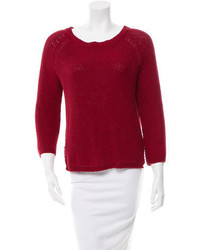 By Malene Birger Rib Knit Open Back Sweater