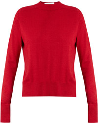 Raey Ry Ribbed Shoulder Silk And Cashmere Blend Sweater