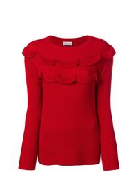 RED Valentino Side Slit Ruffle Sweater