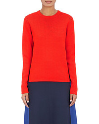 Tory Sport Side Striped Wool Blend Sweater