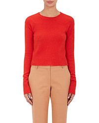 Sies Marjan Stockinette Stitched Wool Cashmere Crop Sweater