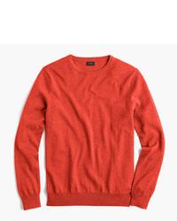 Slim cotton cashmere crewneck sweater medium 754051