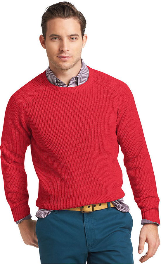Izod Sweater Crew Neck Marled Shaker Sweater | Where to buy & how ...
