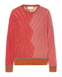 Peter Pilotto Two Tone Metallic Open Knit Sweater