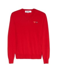 Comme Des Garcons Play Wool Pullover