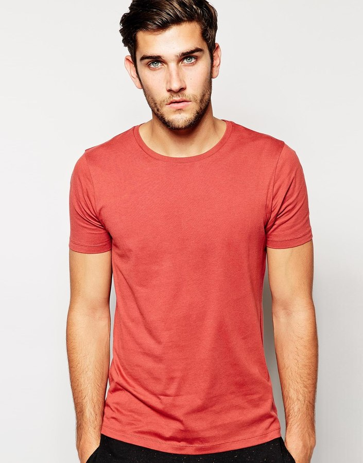 ... Asos Brand Slim Fit T Shirt With Crew Neck